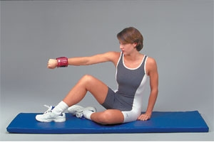 Foam and rubber exercise mats made by Cando Exercise, AirEx, and Others