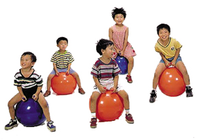 Play therapy equipment for occupational therapy like adaptive swings, balance balls, exercise balls, and more.